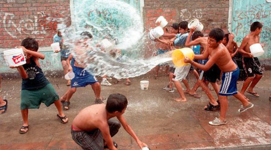 El agua del carnaval