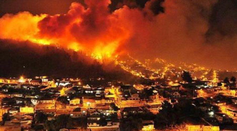 Arde Chile: alegoría del fuego