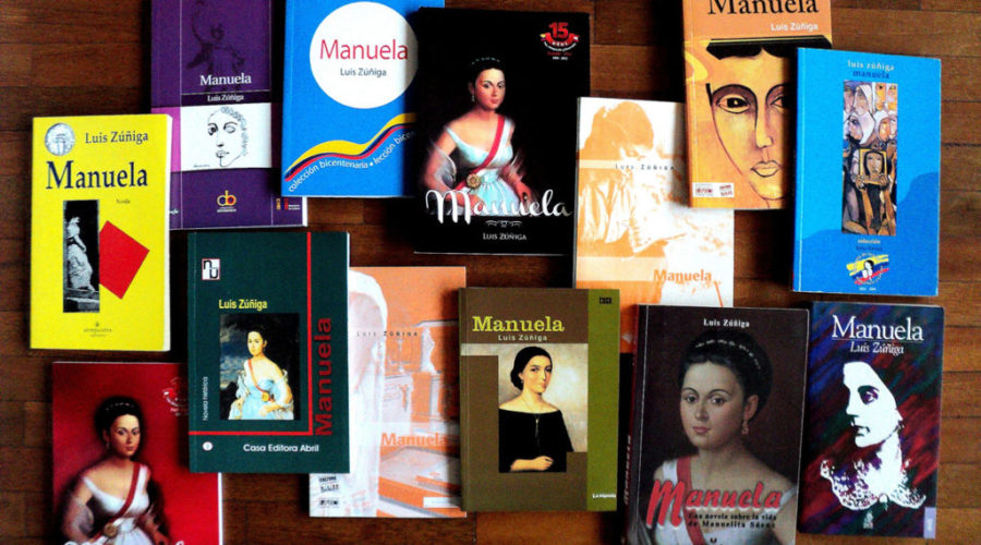 Histórico encuentro con Manuela Sáenz en Casa Égüez