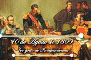 209 años del Primer Grito de Independencia de Ecuador