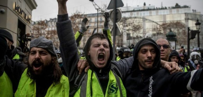 Ecos de la rebelión amarilla a la francesa