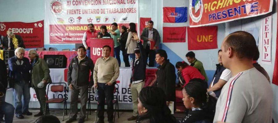 Movimiento sindical ecuatoriano llama a la huelga nacional