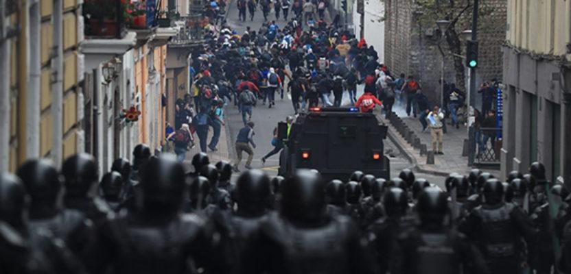 ONU observa uso progresivo de la fuerza en Ecuador