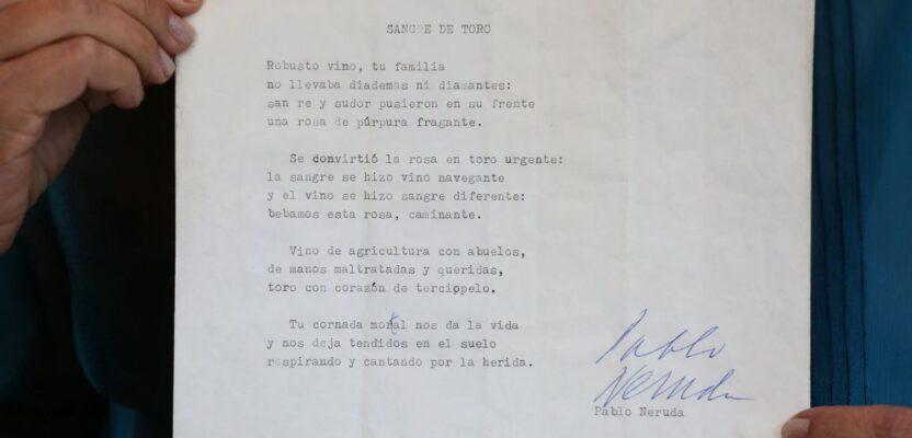 Un soneto original de Neruda recuperado