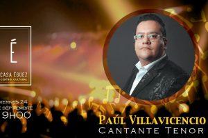 Paúl Villavicencio, un tenor pop