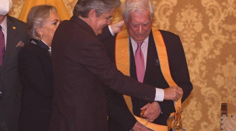 Vargas Llosa en el Grado Gran Cruz
